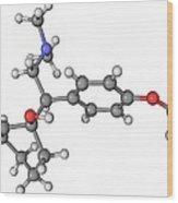 Effexor Antidepressant Drug Molecule Wood Print