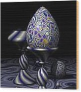 Egg And Goblet Wood Print
