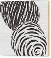 Egg Drawing 010006 Wood Print