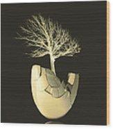 Egg Tree  Wood Print