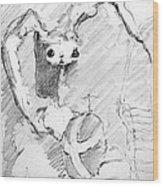 Eggo Bunny Wood Print