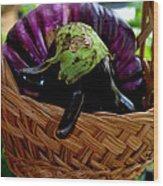 Eggplants From Sicily Wood Print