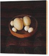Eggs Wood Print by YoMamaBird Rhonda