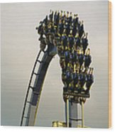 Egypt-montu Rollercoaster At Busch Wood Print