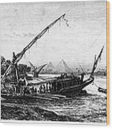 Egypt: Nile Transport Wood Print