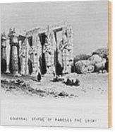 Egypt: Ramesseum Wood Print
