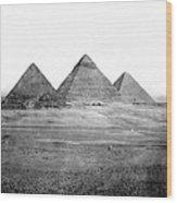Egyptian Pyramids - C 1901 Wood Print