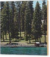 Ehrman Mansion Lake Tahoe Wood Print