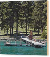 Ehrman Mansion Sugar Pine Point State Park Wood Print