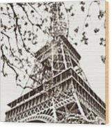 Eiffel Fame Wood Print by Linde Townsend