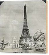Eiffel Tower, 1900 Wood Print