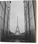Eiffel Tower And Wall For Peace Wood Print by Cyril Couture @