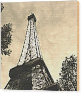 Eiffel Tower At Dusk Wood Print