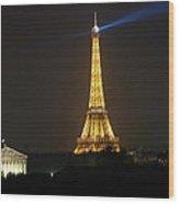 Eiffel Tower At Night Wood Print by Jennifer Ancker
