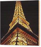 Eiffel Tower Las Vegas Wood Print