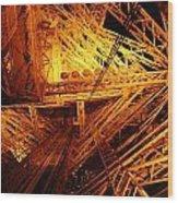 Eiffel Tram Wood Print