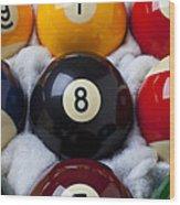 Eight Ball Wood Print by Garry Gay
