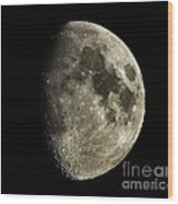 Eight-day-old Moon Wood Print