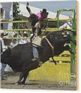 Rodeo Eight Seconds Wood Print