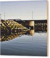 Eisenhower Pier Wood Print by Chris Cardwell
