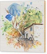 El Alcornocal 02 Wood Print