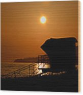 El Capitan Beach Sunset Wood Print
