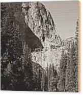 El Capitan Meets The River Wood Print