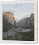 El Capitan. Yosemite Wood Print