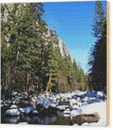 El Capitan's Creek Wood Print