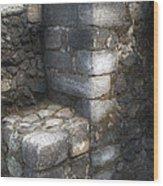 El Cuauhcalli Stonework Wood Print