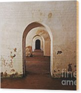 El Morro Fort Barracks Arched Doorways San Juan Puerto Rico Prints Wood Print