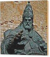 El Papa Luna ... Wood Print