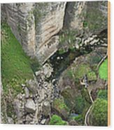 El Tayo River Gorge In Ronda Wood Print