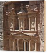 Elaborate Sandstone Temple Or Tomb Wood Print by Luis Marden