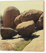 Elaphant Rocks 4 Wood Print