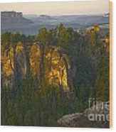 Elbe Sandstone Highlands Wood Print