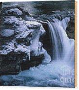 Elbow Falls Wood Print