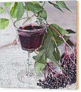 Elderberries 04 Wood Print