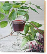Elderberries 05 Wood Print
