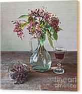 Elderberries 08 Wood Print