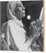 Elderly African American Woman Wood Print