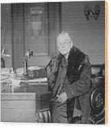 Elderly Rebecca L. Fenton 1835-1930 Wood Print by Everett