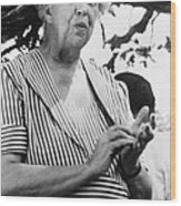 Eleanor Roosevelt 1884-1962, First Lady Wood Print by Everett