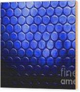 Electric Blue Circle Bumps Wood Print