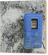 Electric Blue Wood Print
