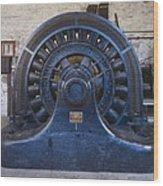 Electric Generator In The Folsom Wood Print by Everett