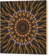 Electric Mandala 3 Wood Print