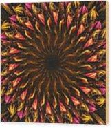 Electric Mandala 4 Wood Print