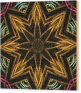 Electric Mandala 7 Wood Print