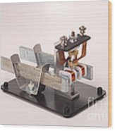 Electric Motor Wood Print by Ted Kinsman